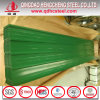 Keralaの上塗を施してある波形の屋根ふきシートを着色しなさい