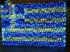 La Grèce drapeau national pour la décoration de plein air de 220V110V Motif LED lumière