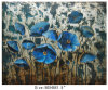 Peinture à l'huile bleue moderne de décor de fleur (LH-700610)