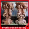 Escultura tallada columna de mármol de la cabeza