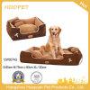 Basi di sofà di lusso del cane del sostegno di paradiso dei prodotti dell'animale domestico del tessuto della pelle scamosciata della base dell'animale domestico grandi con il cuscino
