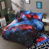 Jeu à la maison de literie de textile de Microfiber de galaxie de collection bon marché de ciel nocturne