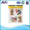 Empuje de plástico de colores Kit Pin y clip de papel