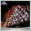 Luz de suspensão do floco de neve da decoração do feriado da alameda de compra 2D