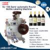 Máquina de etiquetado semiautomática de la botella redonda para la crema corporal (SL-130)