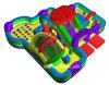 Qualitäts-bunte Innengebrauch-aufblasbare Vergnügungspark-Spaß-Stadt-aufblasbarer Spielplatz