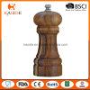 Moulin en céramique en bois de sel et de poivre de faisceau d'acacia