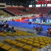 China certificado CE acionado por motor durável de primeira classe eventos futebol indoor Tribunal Cadeira de Bancada Capota Ginásio arquibancadas