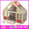 2014 het nieuwe Stuk speelgoed van het Huis van Doll van Jonge geitjes Houten, het Populaire Mooie Huis van Doll van Kinderen Houten, Beartiful Huis W06A039 van Doll van de Prinses DIY het Houten