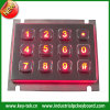 Stainless raboteux Steel Numeric Keypad avec Industrial Backlight Included