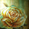 Peinture classique à l'huile de fleur de pivoine peinte à la main classique (LH-016000)