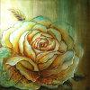 Pintura a óleo de flor de peônia pintada à mão clássica (LH-016000)