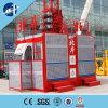 elevador dobro da construção da gaiola 2*2t, elevador da carga