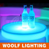 LED Glowing Round Wine Plastic Serving Tray