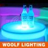 LED 빛을내는 둥근 포도주 플라스틱 서빙 쟁반