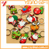 Anel chave personalizado do PVC do Natal/Keychain