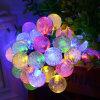 La stringa solare del globo illumina 30 indicatori luminosi leggiadramente della stringa di natale della sfera di cristallo della bolla del LED per il prato inglese esterno del percorso di festa della casa del patio del giardino di paesaggio di natale