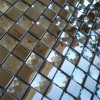 Mezcla de metal y vidrio Papel pintado aleatorio Cocina Backsplash Azulejos Cristal claro Mosaicos de vidrio Cuarto de baño Etiqueta de la pared Ducha Hoteles