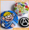 Botão personalizáveis Badge/logótipo do botão de estanho com logotipo impresso para promoção Dom (YB-SM-02)
