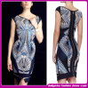 2014 Hot-Selling Sexy Hip-пакет порванный жгут платье, трикотажные печать клуб партии платья