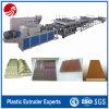 Lignes en plastique en bois d'extrusion de panneau de PVC à vendre