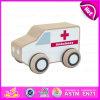 Giocattolo di legno dell'automobile dell'ambulanza dei 2015 capretti del nuovo prodotto, automobile di legno del giocattolo dell'ambulanza dei bambini del gioco di ruolo, migliore giocattolo di legno di vendita W04A113 dell'automobile