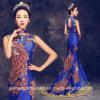 Les robes de mariée col haut long Mermaid Chambre Peacock robes de soirée
