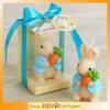 Jeu nouveau-né de cadeau de bébé de bougie de lapin