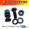 Grand boulon de haute résistance de tête Hex avec la noix et rondelle pour la structure métallique