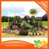 Скольжение спортивной площадки деревянных малышей пластмассы типа дома напольное для сбывания