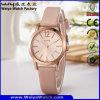 Relógios de senhoras ocasionais do OEM do relógio da cinta de couro do negócio (WY-114E)