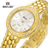 Belbi 여자 시계 형식 보석 스테인리스 팔찌 다이아몬드 시계