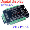 24CH DMX512 암호해독기, LED 제광기 관제사, 24CH DMX 암호해독기, DC5V-24V 의 각 채널 최대 3A 의 부호 8개 그룹 RGB 관제사 디지털 표시 장치 주소