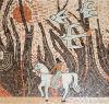 Natualの石造りの大理石のモザイクか石の絵画