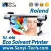 Impresora de inyección de tinta solvente de la impresora de Rolando Eco Ra-640