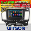 Lancer do carro DVD Formitsubishi do sistema do Android 5.1 de Witson (W2-F9845Z)