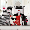 Caisse de palier de maneton de Madame Printed Sofa de Gogerous pour la salle de séjour (35C0070)