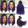 브라질 Remy 머리 Ombre 색깔 10inch Ot1b 자주색 똑바른