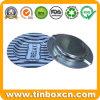 Bolso portátil acessórios para fumadores pequena embalagem de metal redonda cinzeiro