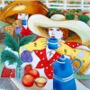 Hand het Geschilderde Ceramische Schilderen DT3007 van de Kunst