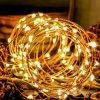 Verde Luzes estreladas Luzes de fadas Prata Luzes LED Cordas Temporizador Bateria com fio Ultra fino