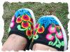 Ручной вышивки обувь (04)