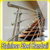Barandilla del acero inoxidable del diseño moderno 304 para las escaleras