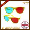 F7197 logo fait sur commande de propriétaire de Sunglass en verre des lunettes de soleil 3D