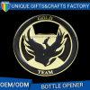 Abridor de frasco chapeado ouro personalizado logotipo do metal do abridor da cerveja
