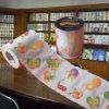 Fournisseur estampé drôle de tissu de salle de bains de la Chine