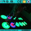 둥근 LED 동적인 대화식 단계 댄스 플로워 빛