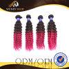 Ombre 색깔 Malaysian 아프로 컬 머리