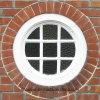 Ventana redonda de la calidad de CY del doble del marco de cristal magnífico casero del PVC