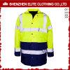 En471 Vêtement de travail de sécurité résistant au feu imperméable à l'eau marine jaune (ELTHJC-467)